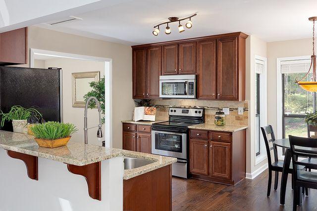 Marietta Ga Real Estate Rock Ridge Dr Kitchen 1 Kitchen Layout Kitchen Room Wooden Dining Tables