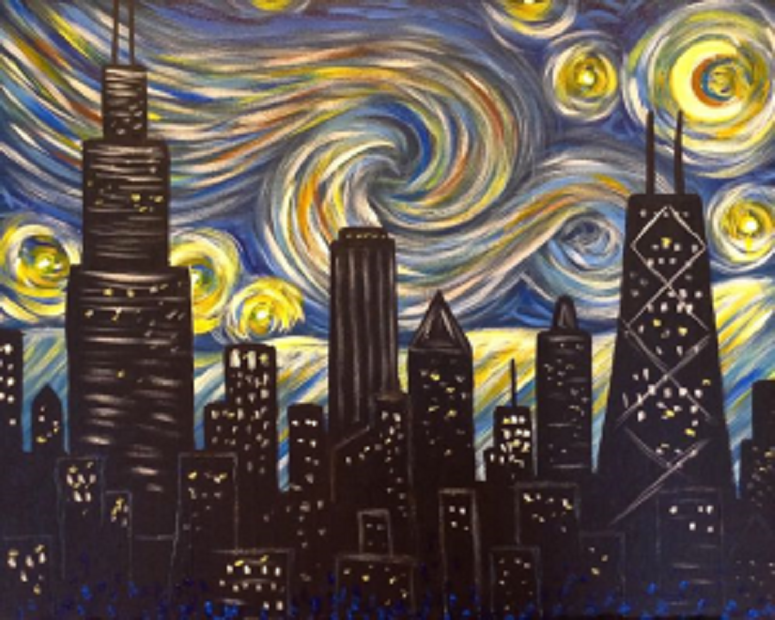 Starry Night Chicago Inspired by Van Gogh\'s Starry Night this ...