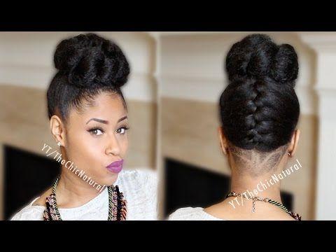 Super Fab French Braided Bun Updo On Natural Hair Youtube Hair Short Hairstyles For Black Women Fulllsitofus