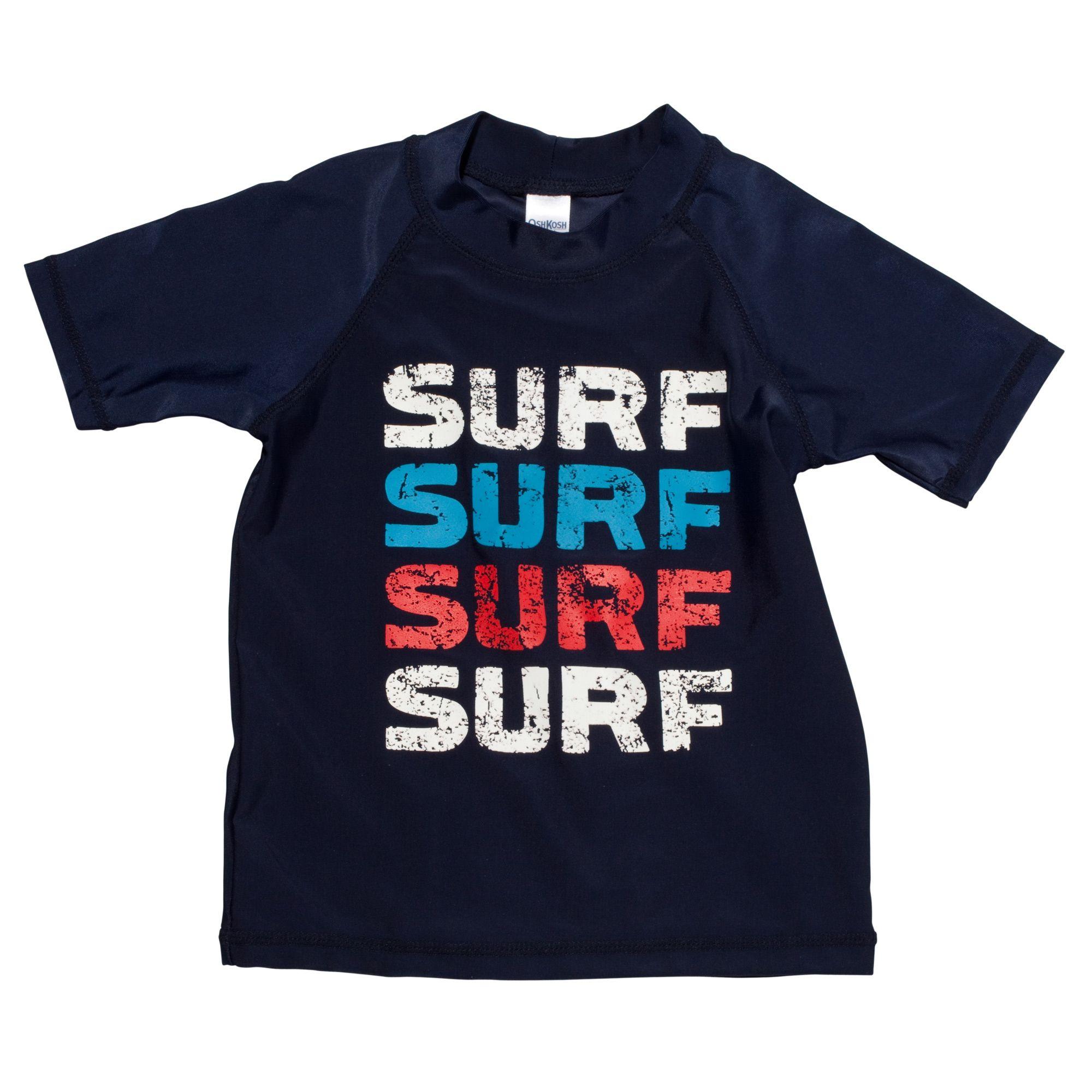 Surf, surf, surf, surf rash guard. #oshkoshbgosh