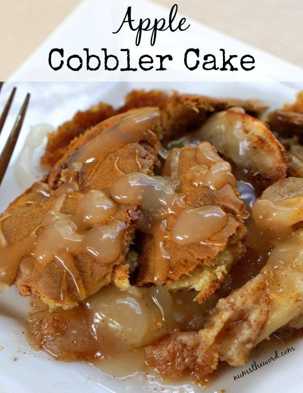 Apple Cobbler Cake is a perfect Autumn apple dish unlike any apple dish you've had before! Similar to a British Pudding, this is a mix between apple cake and an apple cobbler!