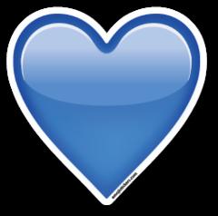 Blue Heart Emoji Stickers Emojis Corazones Azules Emoticones Emoji