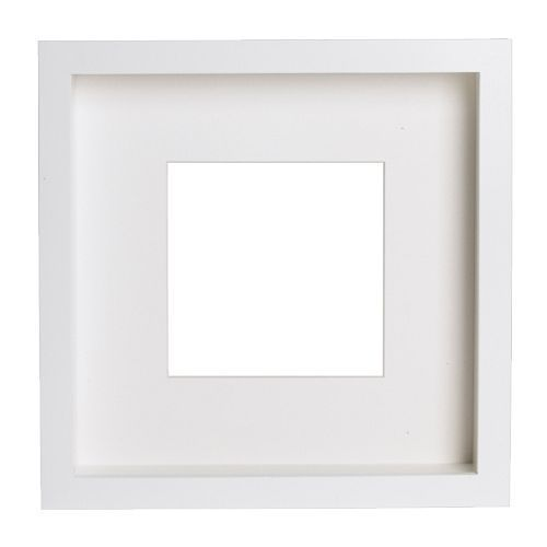 IKEA RIBBA Square Photo Picture Deep Frame with mat - Black White ...