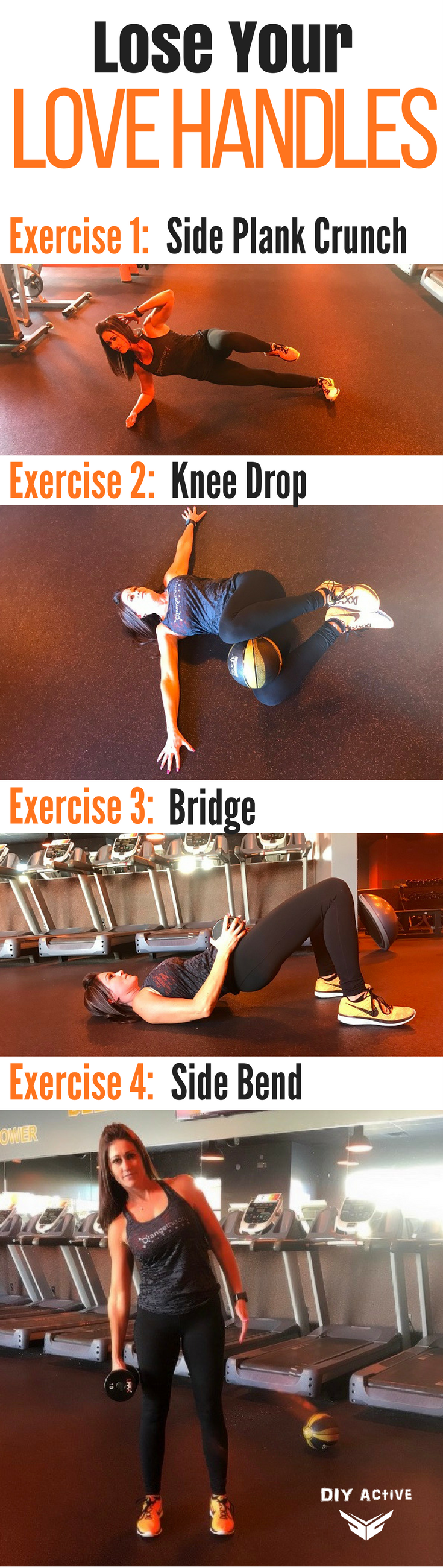 Love Your Body Lose Your Love Handles  Workout exercises Fitness