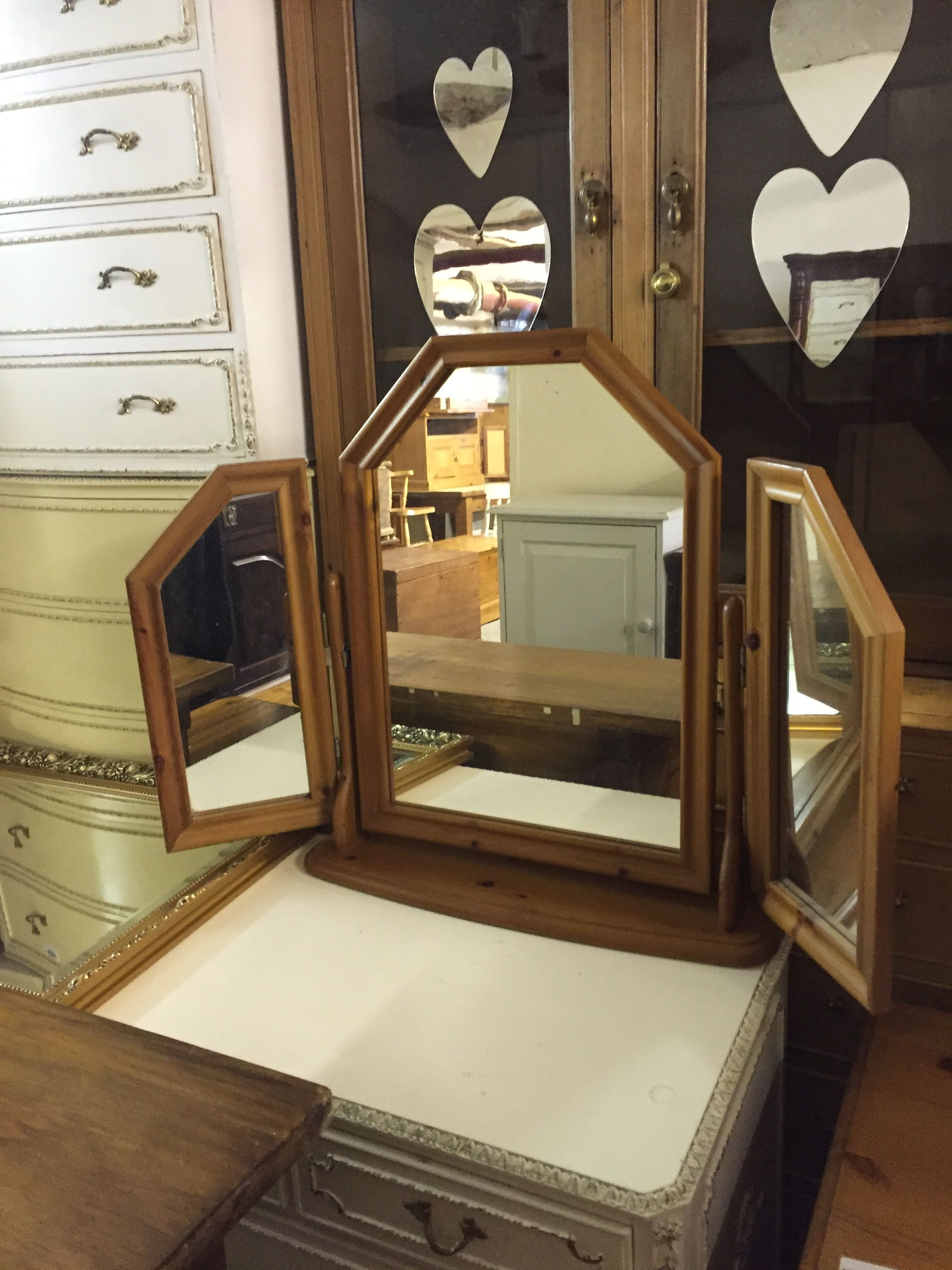 Dressing table mirrors with lights small pine triple dressing table mirror  mirrors  pinterest
