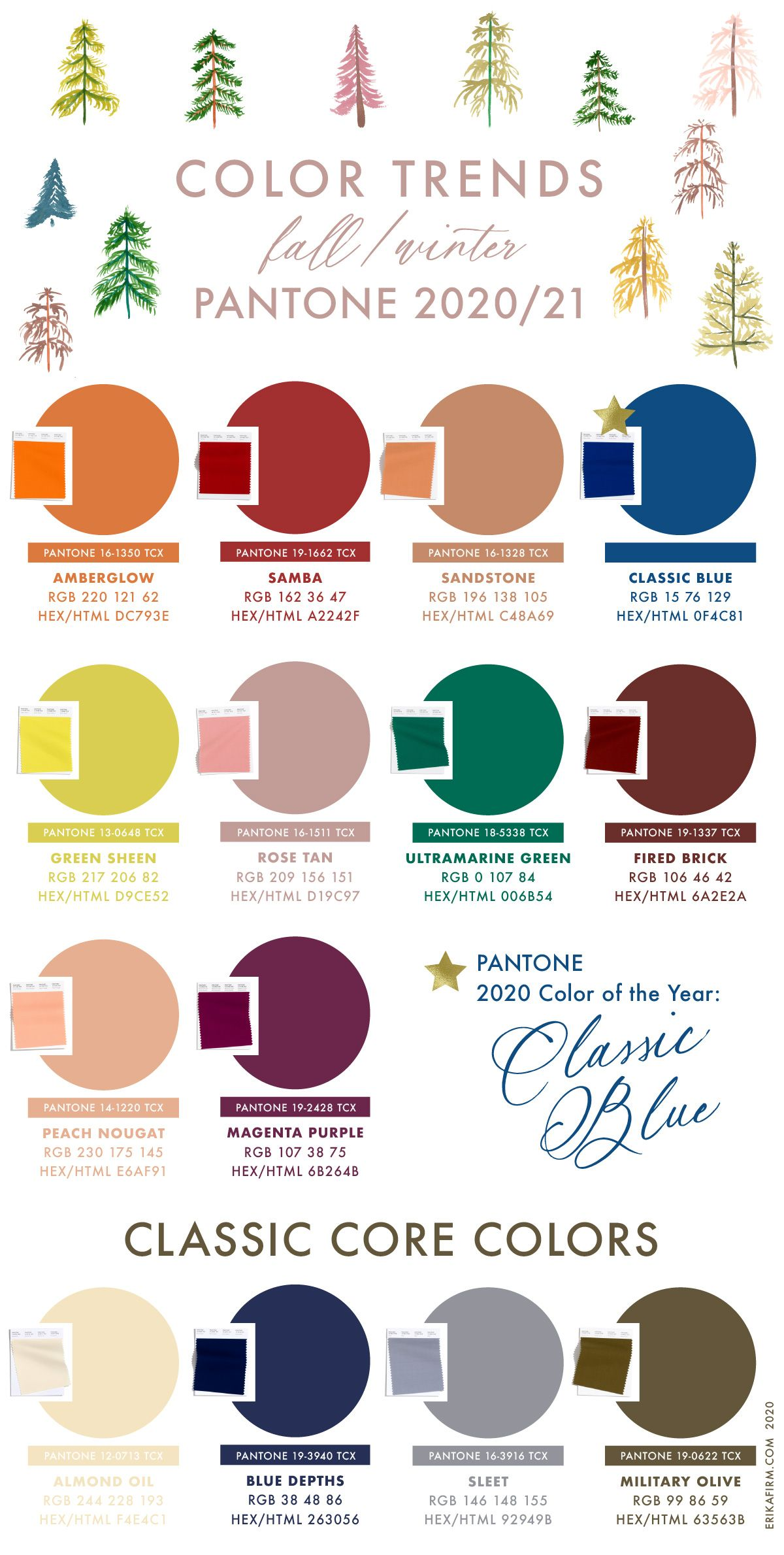 fall 2020 winter 2021 pantone colors trends in color fashion 9285 274 c