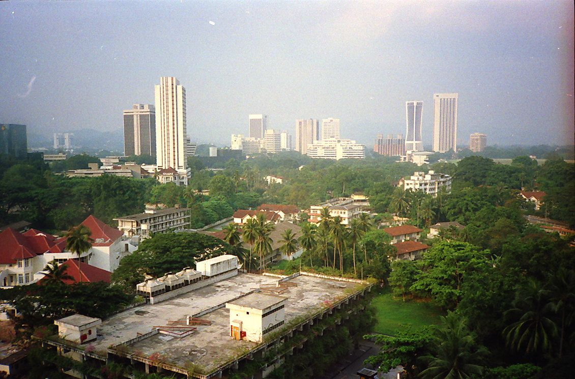 1988 View From Merlin Hotel Now Concorde In Direction Of What Is Now Klcc Kuala Lumpur The Good Old Days Time