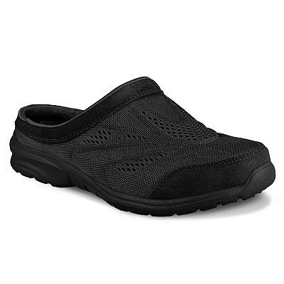 Stylish Skechers Relaxed Fit Relaxed Living Serenity Womens SlipOn Clog Sneakers Black