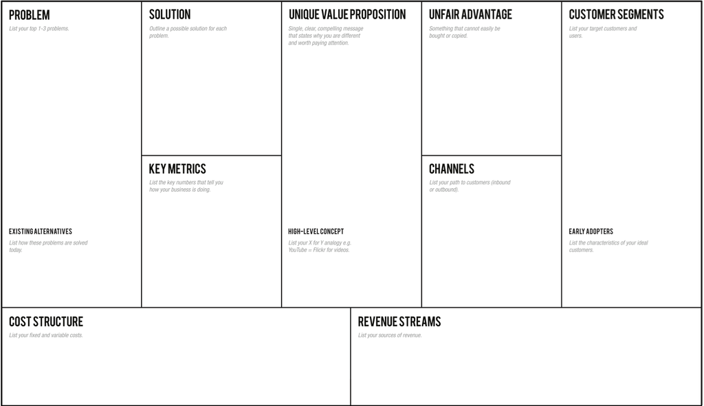 Large lean canvas lean startup pinterest template large lean canvas wajeb Gallery