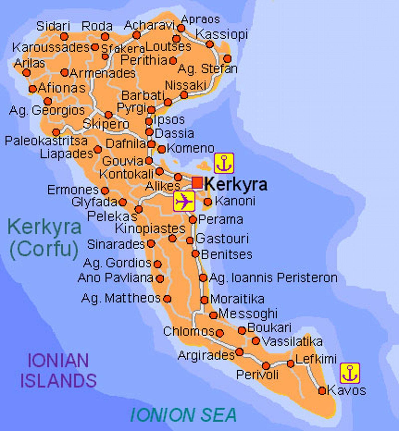 Cultural Sightseeing In Corfu Corfu Map Corfu Corfu Greece