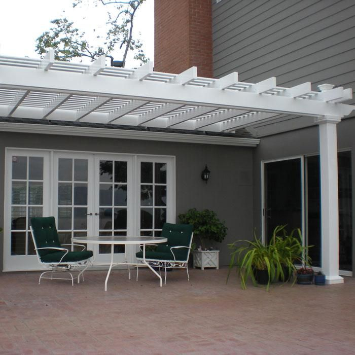 Attached Pergolas Bradenton With 8 Quot X 8 Quot Posts Yard