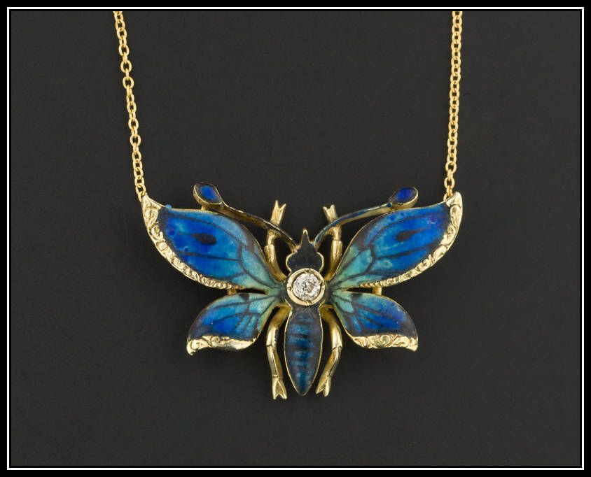 10k Gold Butterfly Necklace Antique Pin Conversion Necklace Etsy Butterfly Necklace Gold Gold Butterfly Butterfly Necklace