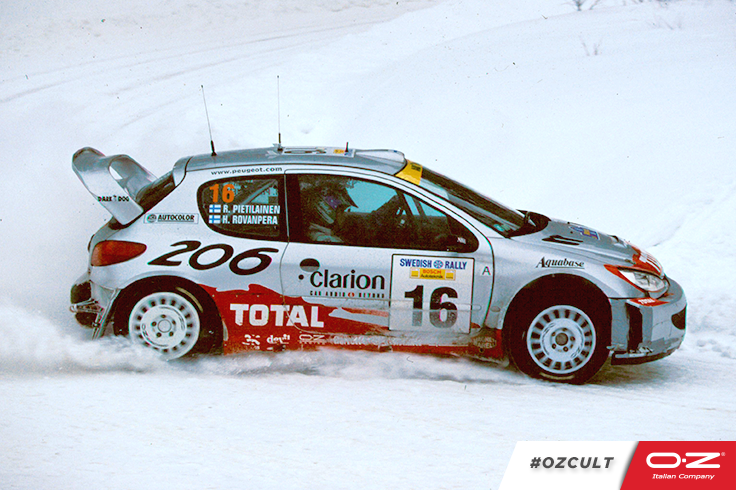 2001. Harri Rovanperä and Risto Pietiläinen won the 50th International Swedish Rally with a Peugeot 206 WRC. #OZCult