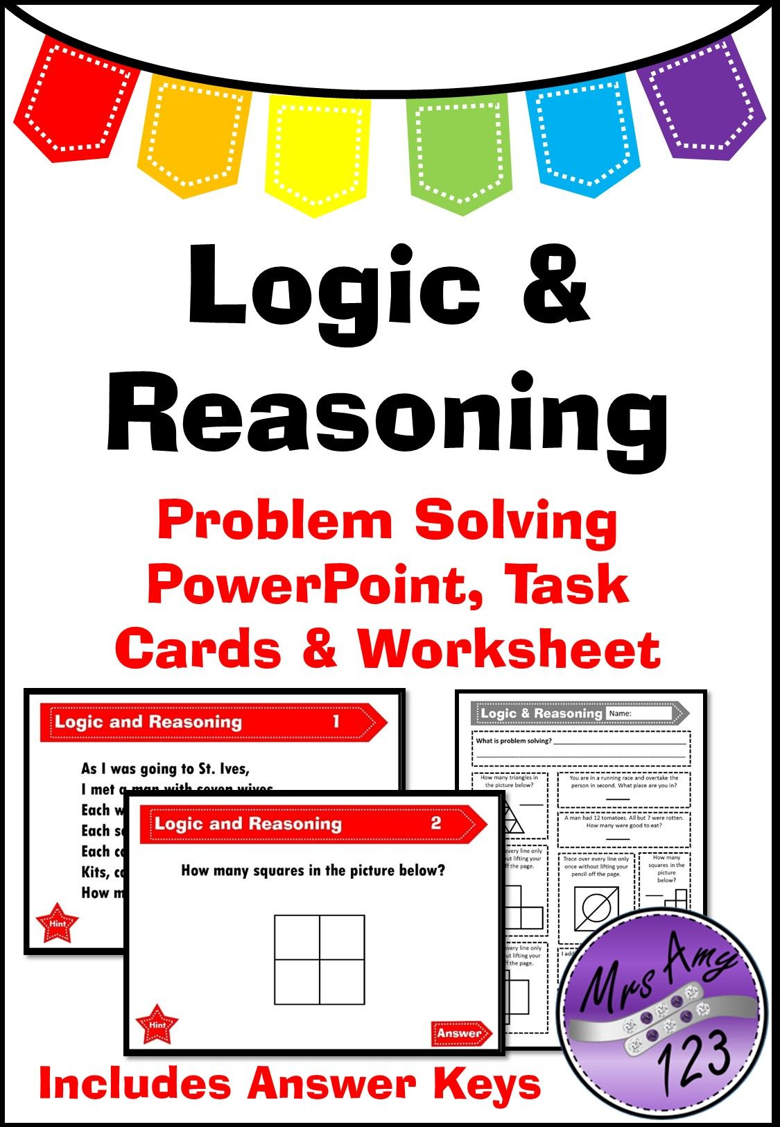 Logic And Reasoning Problem Solving Task Cards Powerpoint