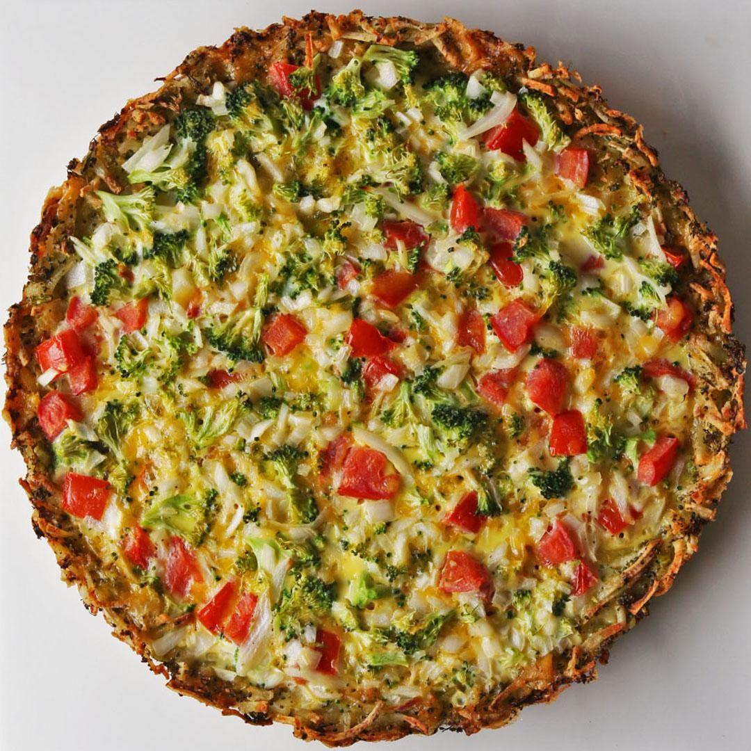 Broccoli Cheddar Quiche Recipe by Tasty