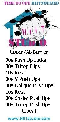 It's all about the shoulders, biceps, chest and triceps with a hint of abs with this muscle toning HIIT combo.