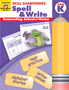 Skill Sharpeners Spell  Write Grade Prek  Activity Book Evan