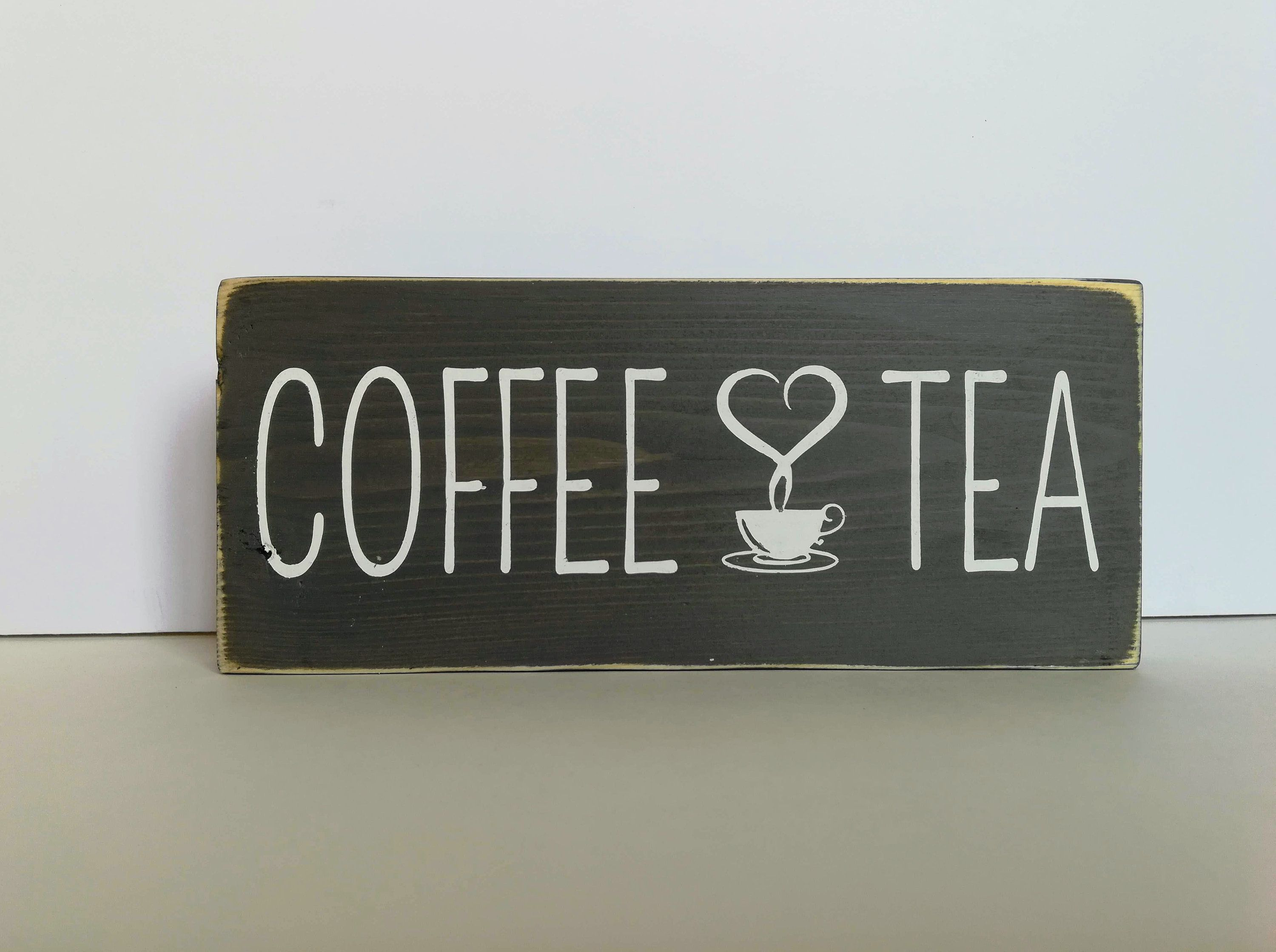 Coffee Tea Bar Sign For Kitchen Decor Rustic Kitchen Decor Coffee Wood Sign For Kitchen Decor Small Wood Sign Coffee And Tea Sign Coffee Wood Signs
