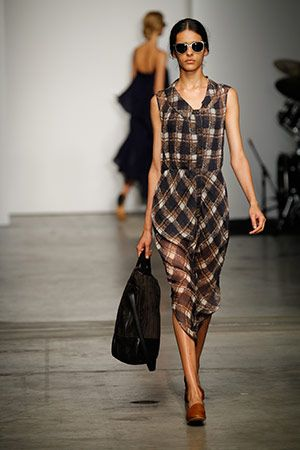 asymmetrical patterned dresses :: Rachel Comey