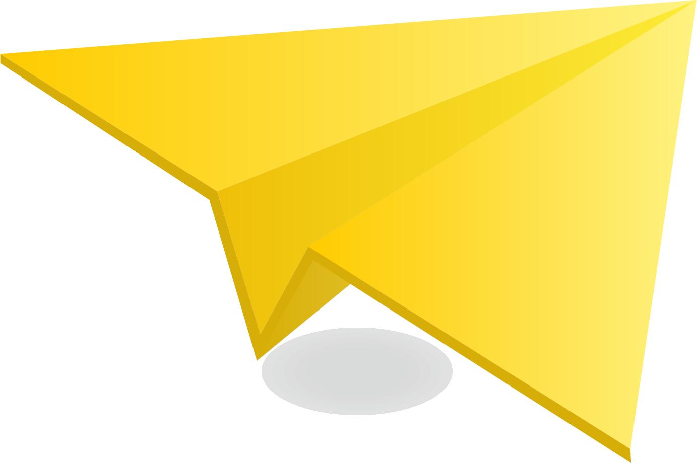 Yellow Paper Plane Paper Plane Yellow Paper Paper Glider
