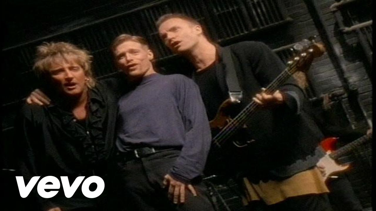 Add Kicking In But It Still Is A Great Song Unique Voices All Of Them All For One And All For Love Bryan Adams Rod Stewart Lieder