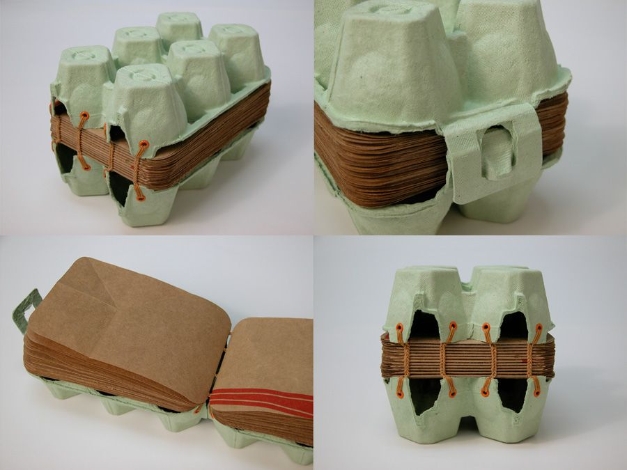 Egg carton book reusing and inspiring instead of just for How to recycle egg cartons
