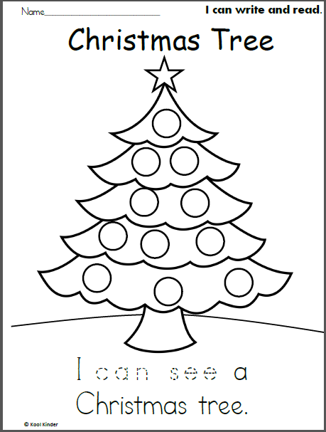 Christmas Tree Read and Trace | Preschool Activites for the kids ...