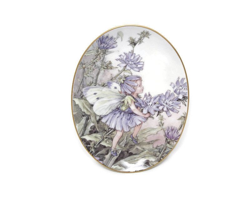Vintage Flower Fairies Plate The Chicory Fairy Made In England Royal Worcester Fine Porcelain 1998 Collector Plat In 2020 Flower Fairies Vintage Flowers Fine Porcelain