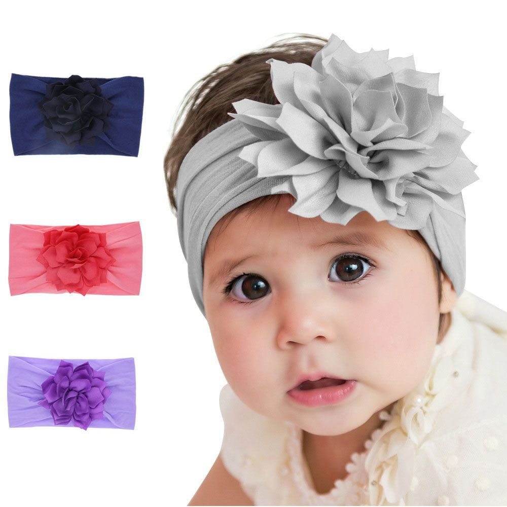 Cute Baby Girl Toddler Lace Bow Hair Band Headwear Kids Headband Accessories 3PC