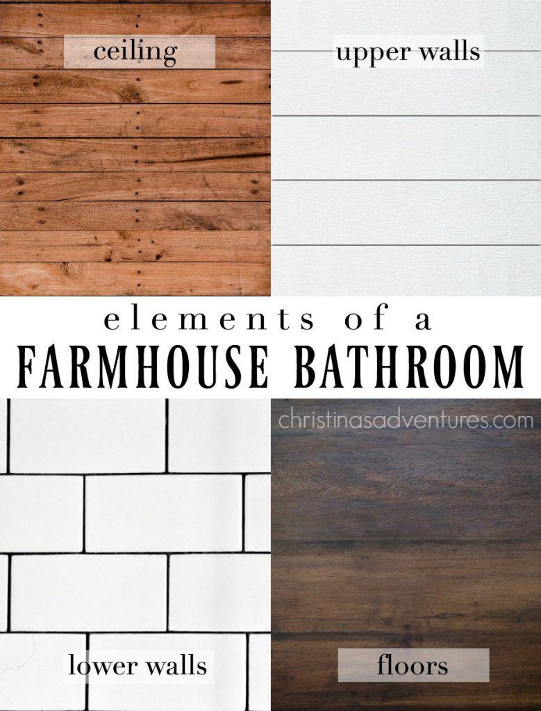 Farmhouse Bathroom Design Elements And Sources Christina Maria Blog Farmhouse Bathroom Big Bathrooms Shiplap Bathroom