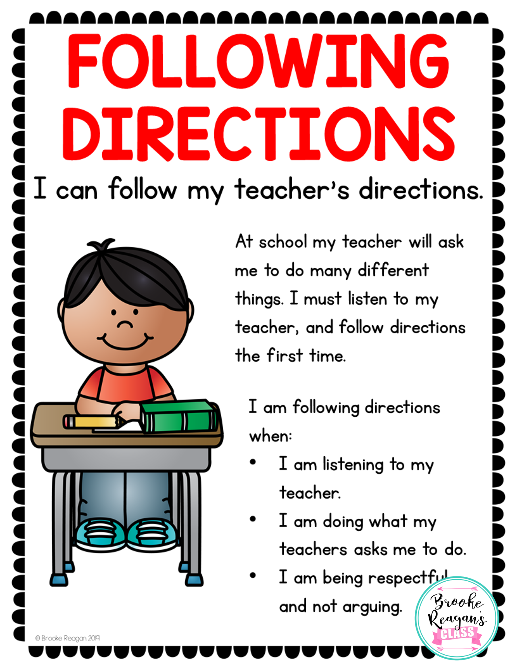 Social Skills Lesson Following Directions
