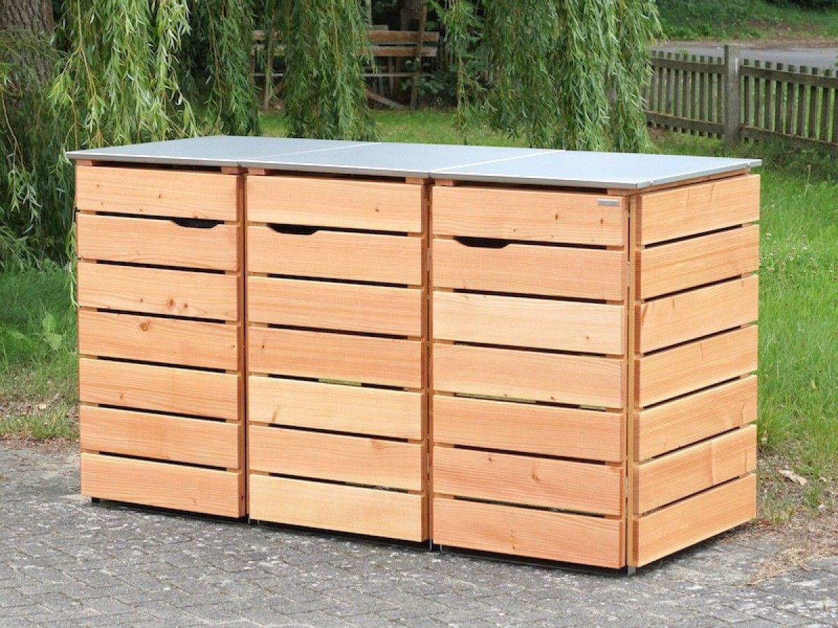 3er mülltonnenbox holz 120 liter | pinterest