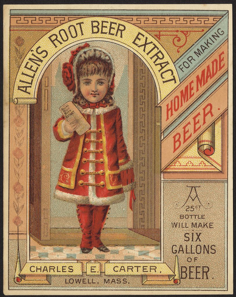 Allen's Root Beer Extract for making homemade beer.  [front]   by Boston Public Library