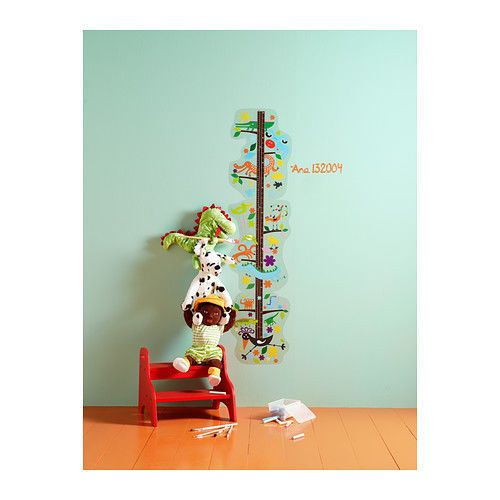 IKEA ROKNAS Wall Decal Childs Childrenu0027s Kids Growth Chart Decoration  Sticker