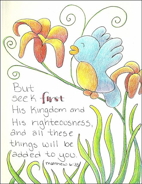 Matthew 6 33 But Seek First His Kingdom Bible Art