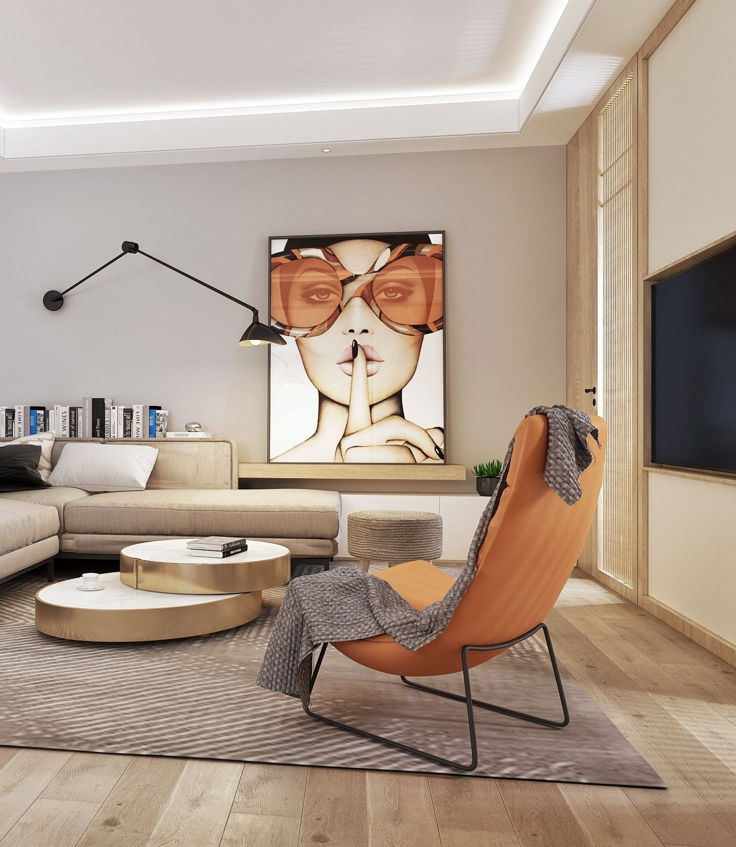 A Color Pattern Can Set The Tone For Your Living Room
