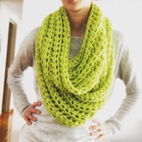 Cuello   Bufanda Xl Tejida A Crochet -   350 f90db330113