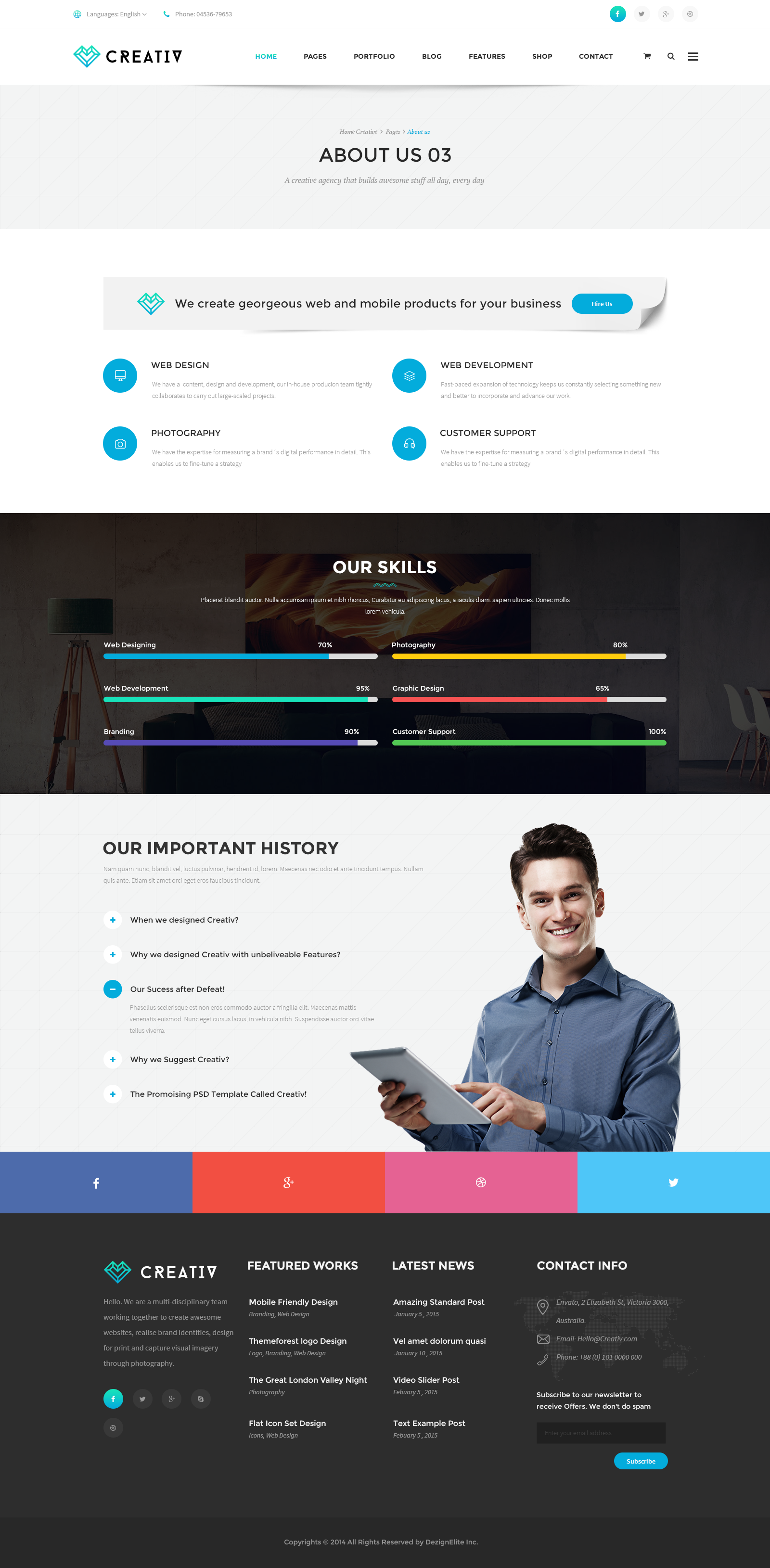 Creativ multiconcept business psd template business pinterest creativ multiconcept business psd template agency business corporate cheaphphosting Image collections