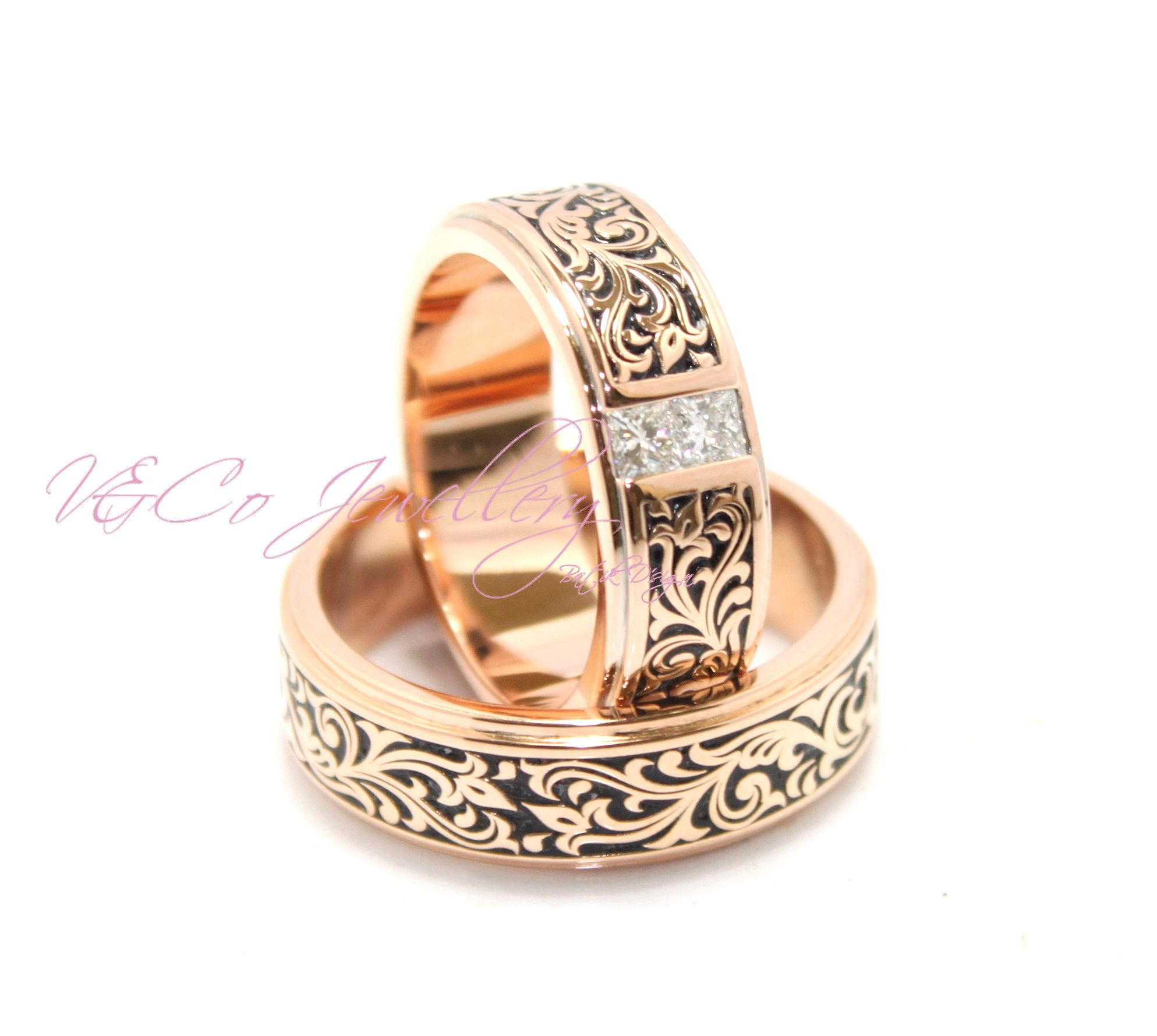 Cincin Kawin Batik Nikah Batikwedding Ring Jewellery Satu Set Jewelry Tunangan Pernikahan Berlian Emas Wedding Round Custom Find Us Instagram Vncojewellery Website