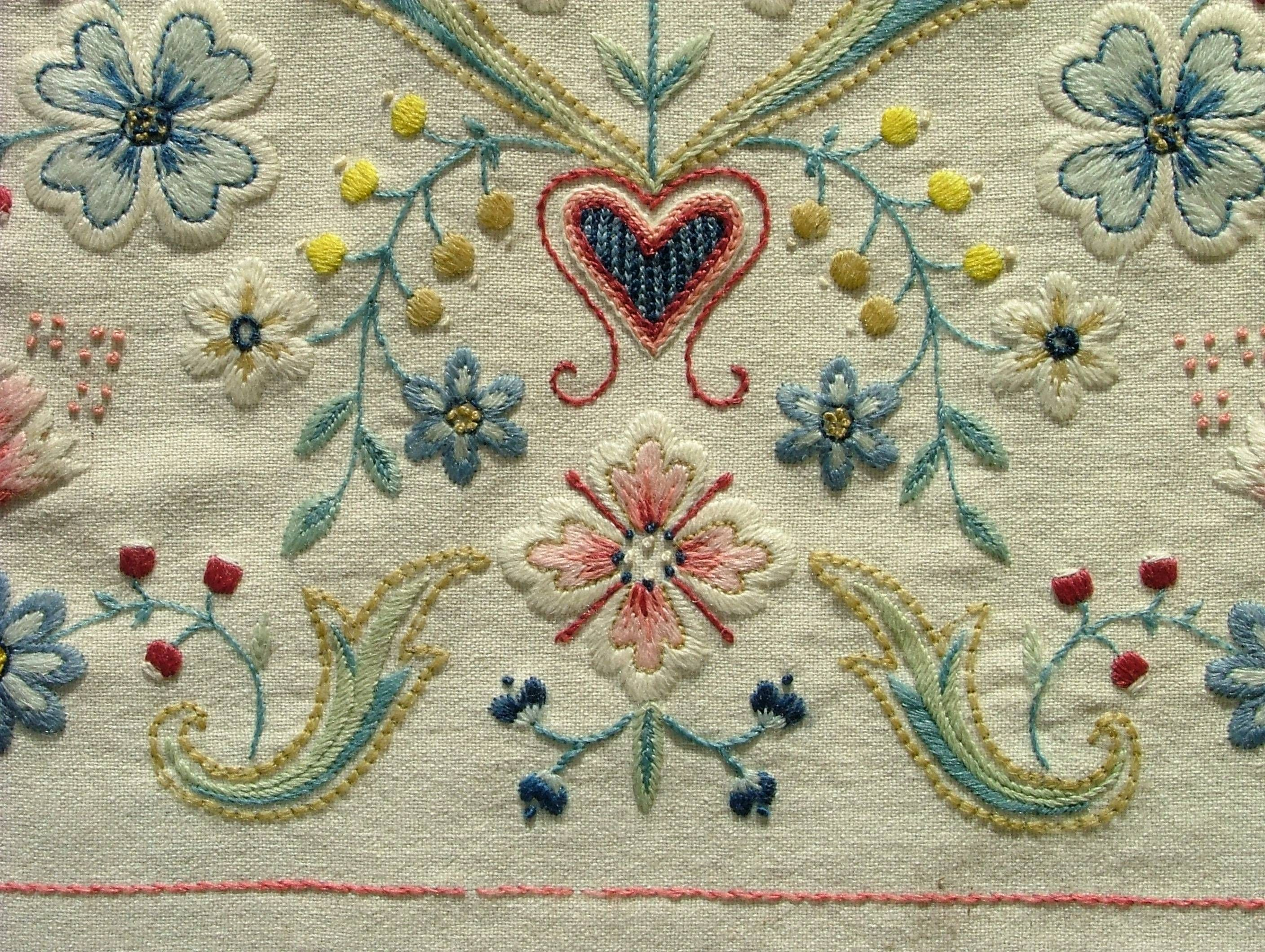 Yllebroderier Hos Moa Embroidery Wool Embroidery And Needlework