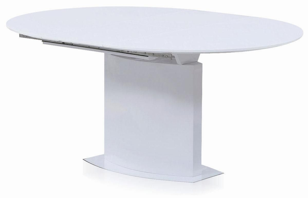 Cafe458 oval lacquer dining table material mdf with for Dining table weight