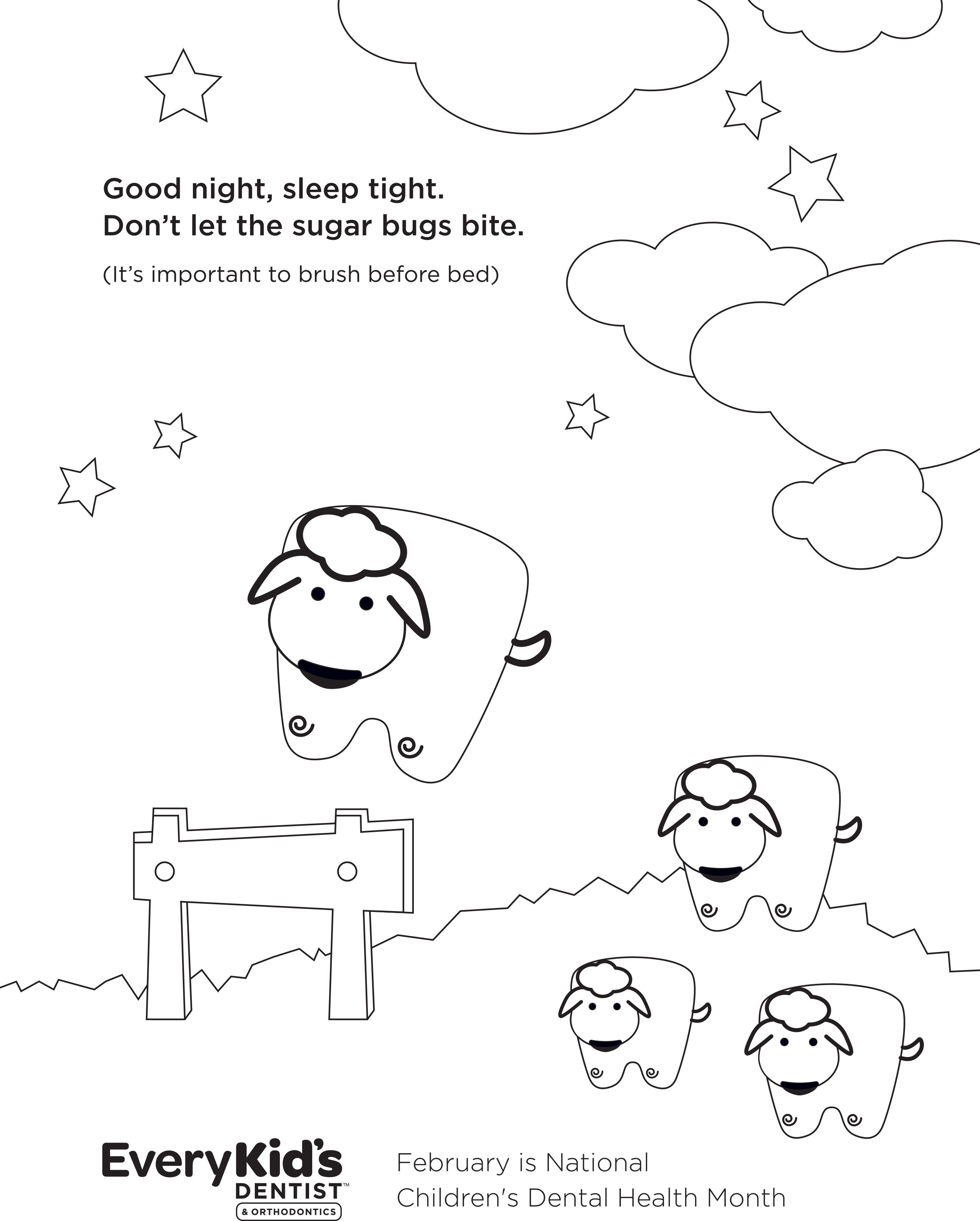 Printable Coloring Sheets from My Kid\'s Dentist and Every ...