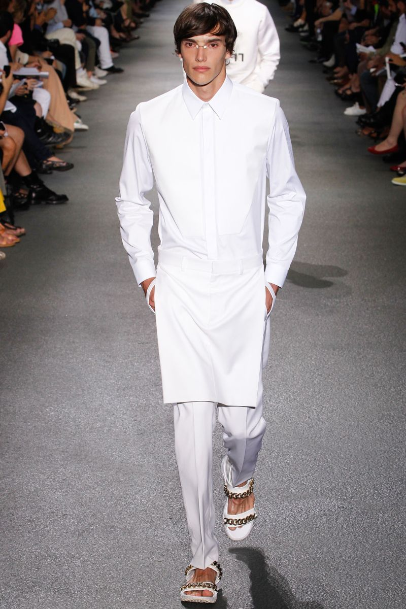 givenchy springsummer 2013  white outfit for men