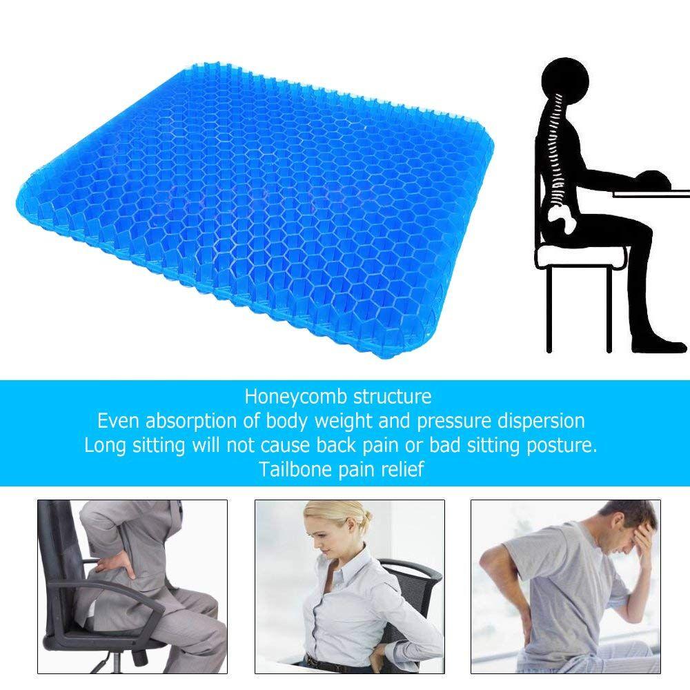 Gel Seat Cushion,Suptempo Thick Big Gel Seat Cushion