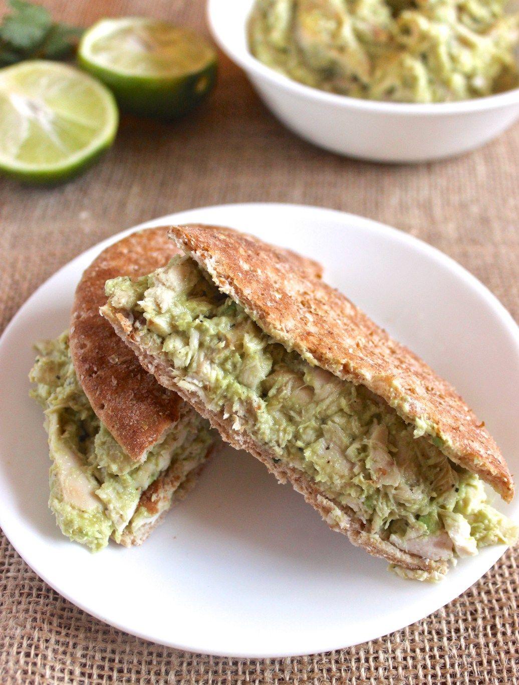 Avocado Greek Yogurt Chicken Salad- so delicious and made with NO mayo!   healthy-liv.com