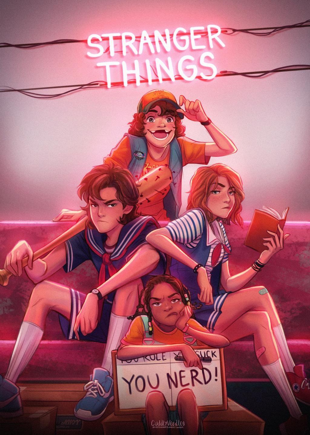 Stranger Things 3 Scoops Troop 85 by CuddlyVeedles on