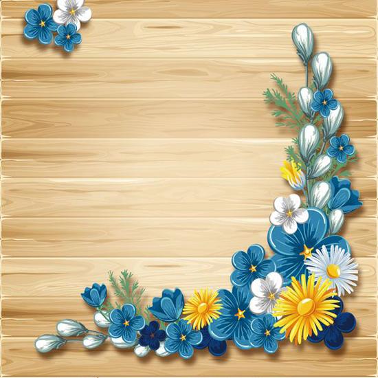 Blue quilled flowers Flower frame, Flower art, Frame