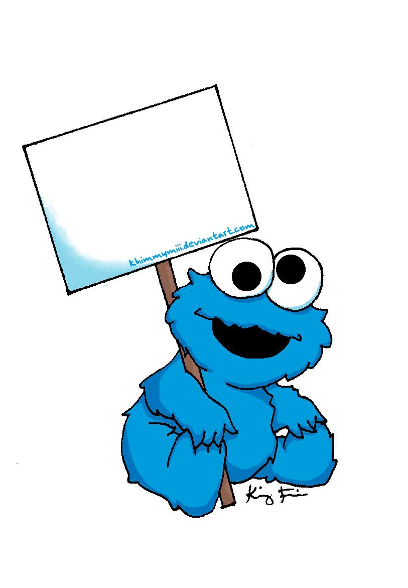 Hermosa Cookie Monstruo Para Colorear Imprimible Imagen - Dibujos ...