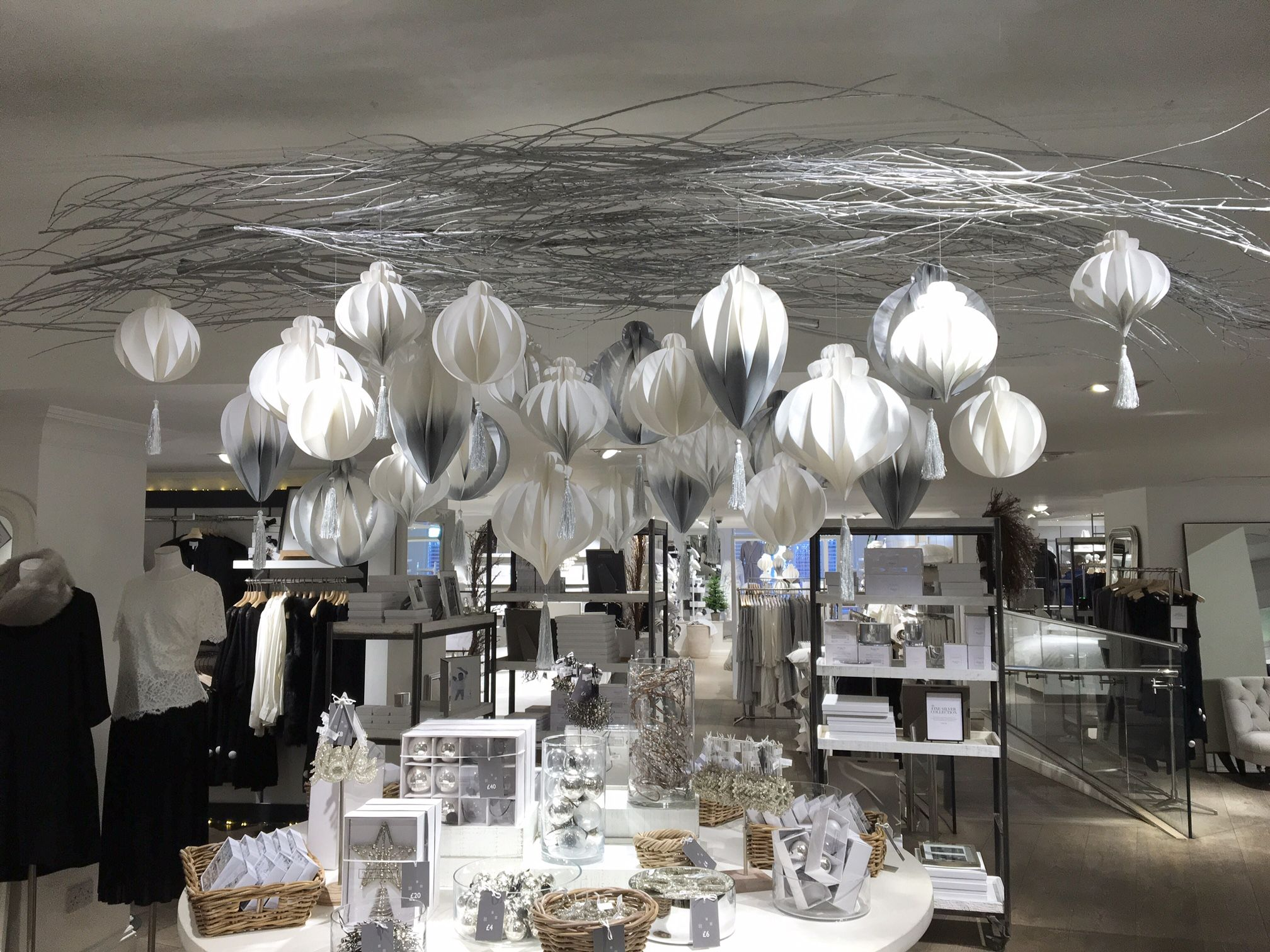 Christmas Decorations On Display In The White Company Christmas 2016