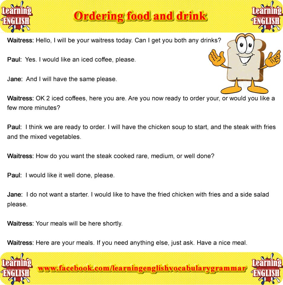 Forum   ______ English Grammar   Fluent LandOrdering Food